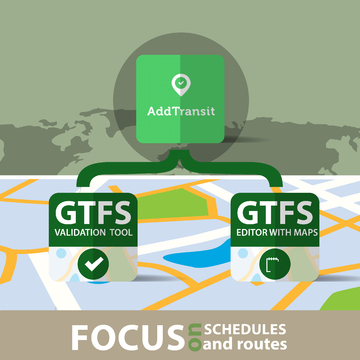 GTFS Validation, GTFS Editor and GTFS Tool. Get schedules on Maps