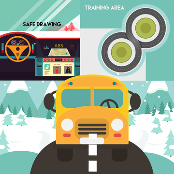Safe Driving Buses during Winter