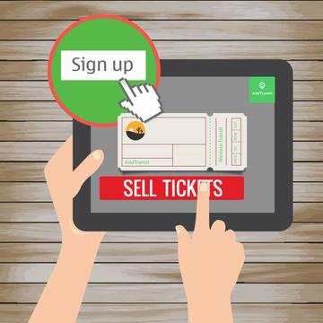 Sell shuttle bus tickets online