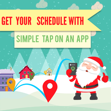 Santa gets his Christmas Schedules Online